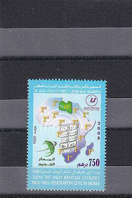 stamps LIBYA 2008 LIBYA THE FIRST AFRICAN COUNTRY IN LEVEL IN MOBILE MNH #1 */*