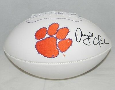 Dwight Clark Signed Autographed Clemson Tigers White Logo Football Gtsm