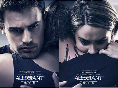 Divergent Allegiant - original DS movie poster  D/S 27x40 Adv set of 2