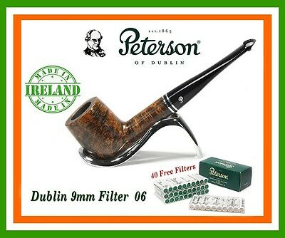 PETERSON DUBLIN 9mm FILTER BRIAR PIPE (NEW & BOXED) SHAPE 06