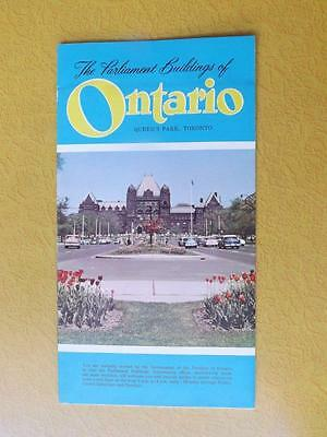 Information Brochure Fold Out Parliament Buildings Of Ontario Queens Park Map