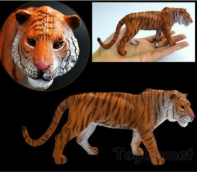 Realistic Tiger Wild Animal Figure Solid Plastic Toy Model