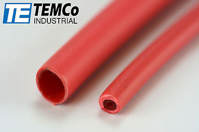"TEMCo 1/8"" Marine Heat Shrink Tube 3:1 Adhesive Glue Lined 4 ft RED"