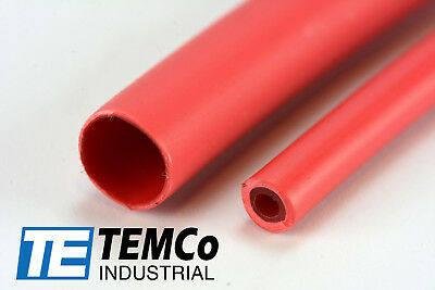 "TEMCo 5/16"" Marine Heat Shrink Tube 3:1 Adhesive Glue Lined 4 ft RED"