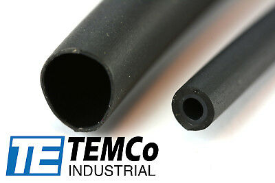 "TEMCo 1/4"" Glue Lined Marine Heat Shrink Tube 3:1 Adhesive 4 ft BLACK"