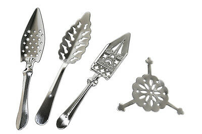Absinthe Spoons Set (#6, #14-A, #17, #37) & 10 Sugar Cubes -Free Shipping!