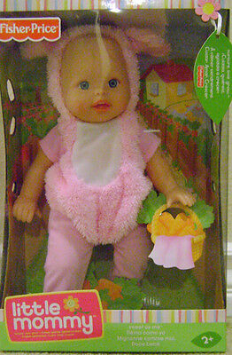 Fisher Price Little Mommy Sweet As Me Garden Party Pink Bunny Easter Baby *new*