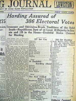 3 1920 newspapers REPUBLICAN WARREN HARDING ELECTED PRESIDENT Teapot Dome