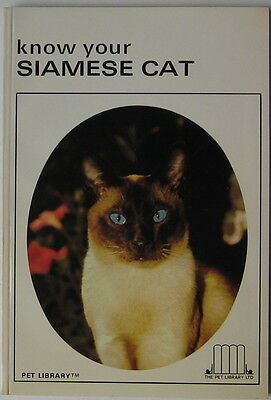Vintage Siamese Cat Book  Know Your Siamese Cat