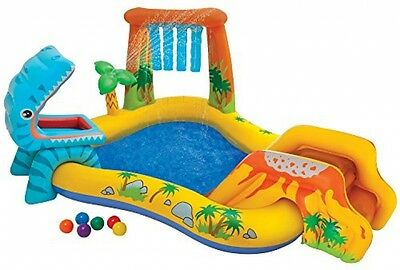 Intex Dinosaur Inflatable Play Center, 98 X 75 X 43 , For Ages 2+