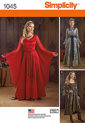NEW SIMPLICITY MELISANDRE GAME OF THRONES SEWING PATTERN 1045 Dress GOWN