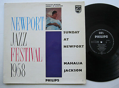 LP Mahalia Jackson - Sunday At Newport - VG++ Evening Prayer Jazz Festival 1958