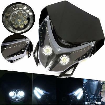 Universal Motorcycle Headlight Fairing Light Dual Street Fighter Dirt HeadLight