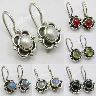 925 Silver WHITE PEARL, MOONSTONE & Other Gemstones Variation Earrings SEE MORE