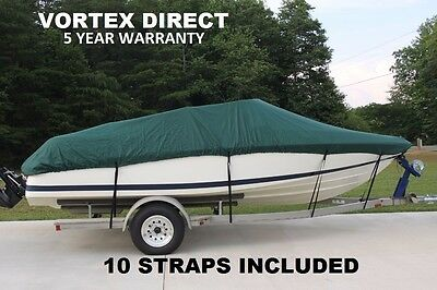Vortex Green 13 To 15.5 Ft Vh Heavy Duty Fishing/ski/runabout/boat Cover