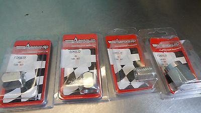 Aeroquip Tube Nut Fitting Lot (3) FCM3572 3572 (1) FCM2498 2498 -6an -8an Versil
