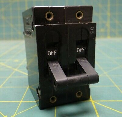 Used Airpax Circuit Breaker 2-Pole 20 Amps