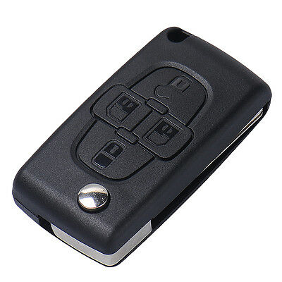 Replacement Folding Remote Key Case Shell Entry Fob Blade for Peugeot 1007