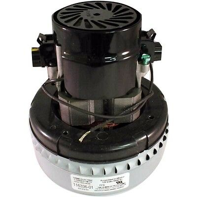 New Genuine Ametek Lamb 2 Stage Peripheral Bypass Vacuum /Blower Motor 116336-01