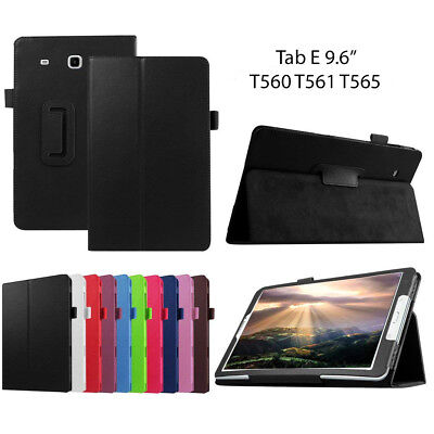 Samsung Galaxy Tab E 9.6 T560 Leather Tablet Stand Flip Cover Case