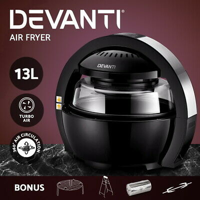 NEW Air Fryer Oven Cooker 13L LCD Digital Space 1300W Low Fat Oil Free Health BK