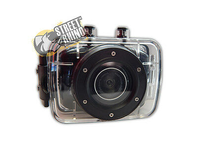 """Honda FR-V Action Camera 2"""" Touch Screen With Clear Water Proof Case"""