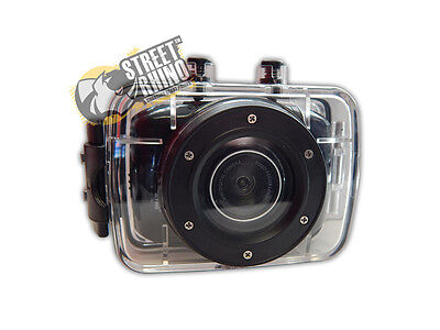 """Peugeot Partner Action Camera 2"""" Touch Screen With Clear Water Proof Case"""