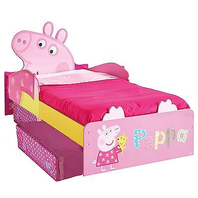 Peppa Pig Mdf Junior Toddler Bed With Storage New