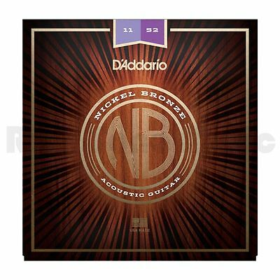 D'Addario NB1152 Nickel Bronze Acoustic Strings - 11-52