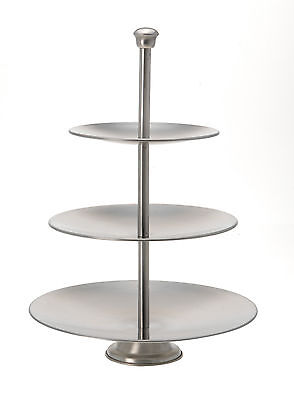 3 Tier Cake Stand Cupcake Stand Food Stand Brushed Stainless Steel