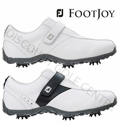 CLEARANCE FootJoy Ladies LoPro Waterproof Leather Golf Shoes - Wide Fit
