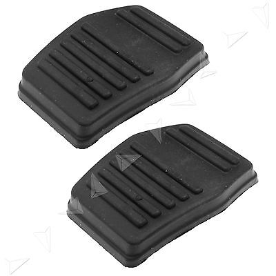 2pcs Black Clutch or Brake Pedal Pad Rubber Cover For Ford Transit MK7