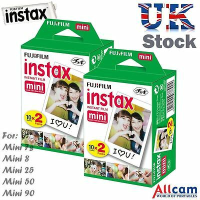 40 Fuji Instax Mini Film for Instax Mini 90, 50, 25, 8, 7s, 7 (2 boxes of 20)