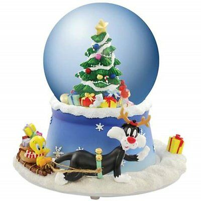 Tweety Bird and Sylvester with Christmas Tree Snow Globe - Westland Giftware