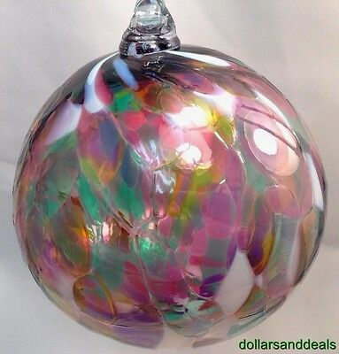 New Witch Ball Medium Stained Glass Friendship Bronte Harbour Fiesta Night #12