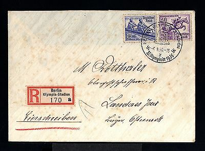 9933-GERMAN EMPIRE-REGISTER.COVER OLYMPIC GAMES.Berlin.1936.WWII.DEUTSCHES REICH