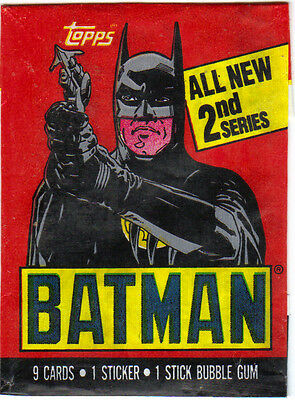 1989 Topps Batman series 2 card,sticker and wrapper set