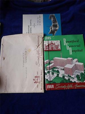 Brantford General Hospital 75Th Anniversary Souvenir Booklet 1960 & 1969 Booklet