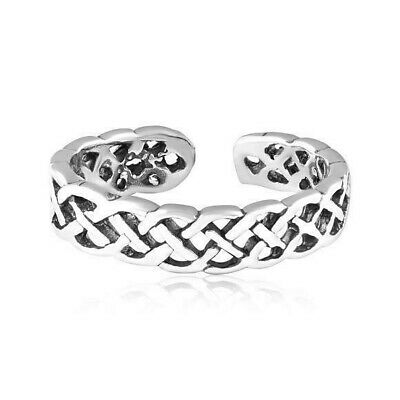 USA Seller Adjustable Celtic Toe Ring Sterling Silver 925 Best Deal Jewelry