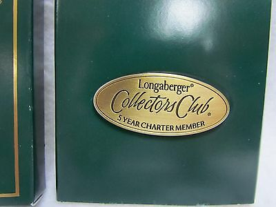 2000 Longaberger Lapel Pin: Collectors Club 5 Year Charter Member
