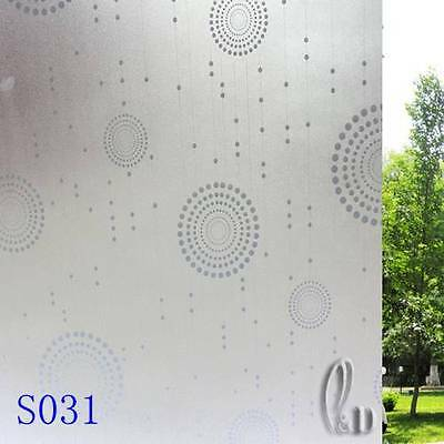 92cmx5m Home Office Privacy Frosted Frosting Removable Glass Window Film s031