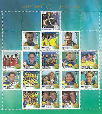 Stamps Australia 2000 Sydney Olympic Games limited edition year book sheetlet