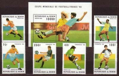 World Cup 1998 Football Benin MNH S/S+6 stamps 1996