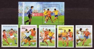 World Cup 1998 Football Guinea S/S+5 stamps 1995