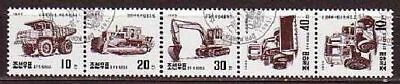 Car Construction machines 5 stamps