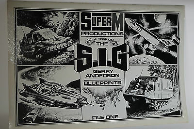 Gerry Anderson Blue Prints file 1 with 4 prints in a large folder