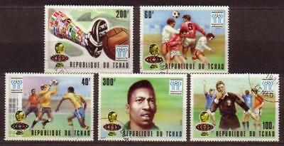 World Cup 1978 Football Tchad Chad 5 stamps 1977