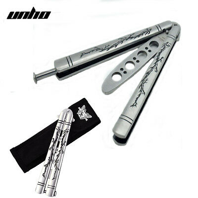 Chic Dragon Metal Steel Trainer Balisong Butterfly Training Knife Practice Tool