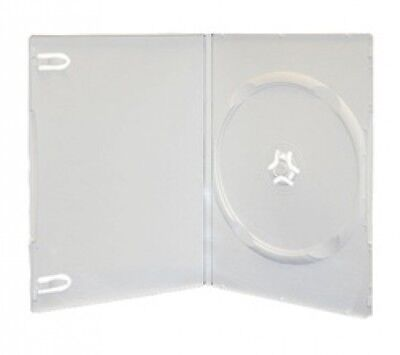 200 SLIM Solid White Color Single DVD Cases 7MM