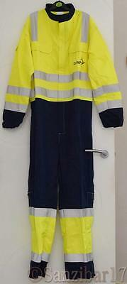 New Eagle ETF1313YNA ARC Flame Retardant AntiStatic Hi Vis Coverall Boiler Suit